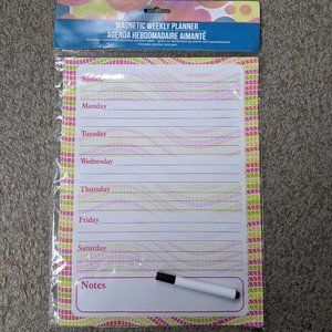 FREE gift w/ purchase - Magnetic Weekly Planner